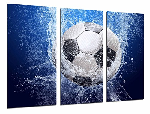 Cuadro Moderno Fotografico Balon de futbol Impacto en el Agua, 97 x 63 cm, ref. 26781