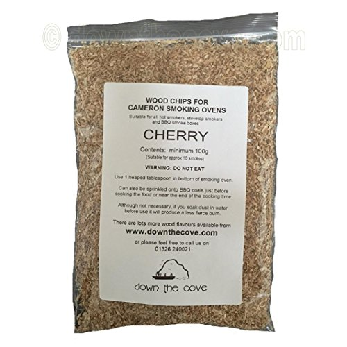 100g Cherry Wood Chips / Wood Dust for Hot Smokers / Smoking Ovens / BBQ