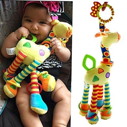 Arpoador Kinderwagen Spielzeug zum Aufhängen Giraffe Glöckchenhänger Kinderbett Rassel Spielzeug Kauspielzeug
