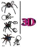 3D-25 - (Modèle 26 3D) 3D Dessins réaliste tatouage temporaire Autocollants Body Stickers Bijoux - Removable Tattoo Sticker Sheet Dimensional Effet réaliste étanche Sticker corps