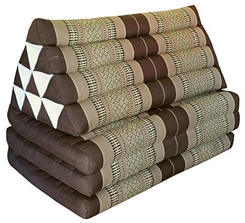 Kapok Thaikissen Kissen mit drei Auflagen XXL, braun/beige