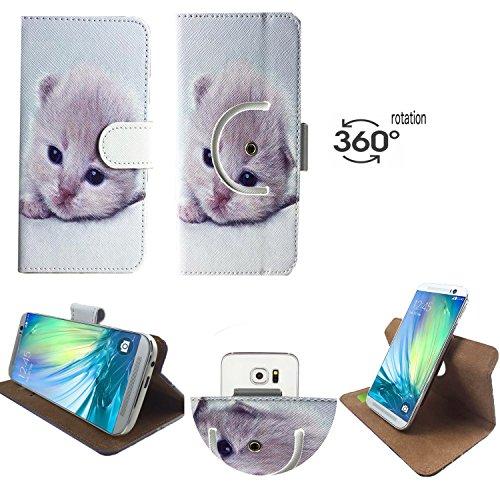 Handy Schutz Hülle | für Vernee Thor E | 360° Drehbare Funcktion |- 360° Nano M Katzen 1