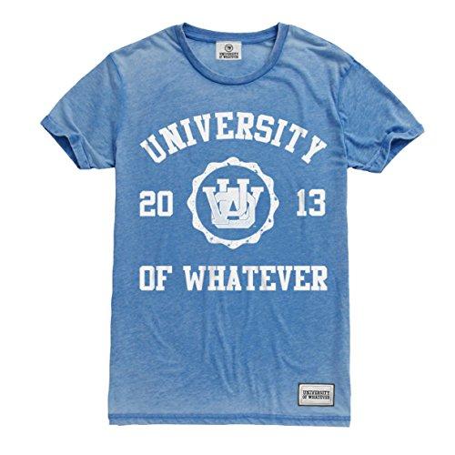University of Whatever Herren Erstklassiges Burnout Tshirt Denim X-Large CRT21 (Burnout-raglan-t-shirt)