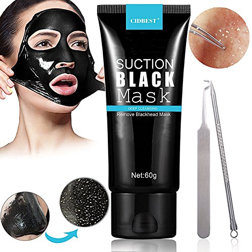 Black maske, Peel off maske, Mitesser Maske, Mitesserentferner Werkzeug, Black Mask, Gesichtsmasken Schwarz, Blackhead Remover Mask, Suction Schwarz Mud Purifying Peel-off-Maske, Tiefenreinigung Mites