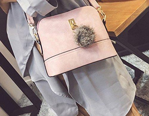 Borsa a tracolla PU Donne YCMDM Shell borsa Messenger , black Pink