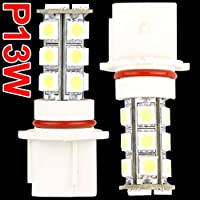 SODIAL(R) 2 LUCI P13W FENDINEBBIA DIURNE 18 LED SMD BIANCO PER CHEVY CAMARO RS