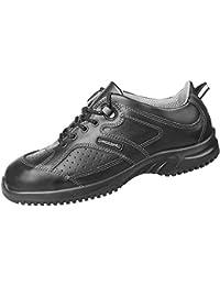 Abeba Zapatos de trabajo (microfibra A, con buen agarre, correas ajustables en el talón, aptos para cocina, OB, ESDA, E, FO SRC, HACCP), color negro negro negro Talla:48