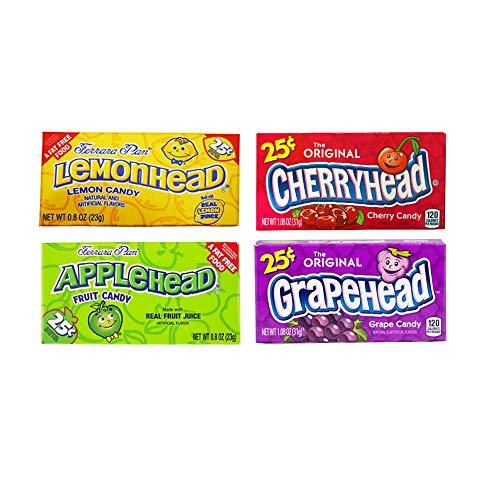 Ferrara Candy Company 1x Lemonhead, 1x Cherryhead, 1x Grapehead & 1x  Applehead