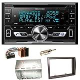 Kenwood DPX-7100DAB Bluetooth USB MP3 Autoradio iPhone iPod Doppel Din AOA 2.0 DAB+ Digitalradio Einbauset für Fiat Ducato Boxer Jumper