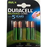 Duracell Rechargeable Ultra Rechargeable Battery Type AAA 900 MAh, Pack Of 4