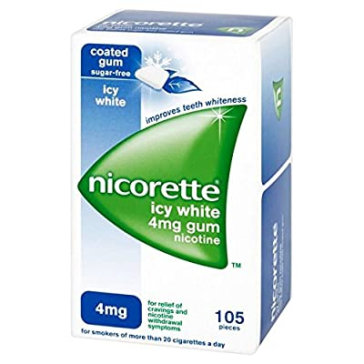 Nicorette Gum Icy White 4mg 105 per pack by Nicorette