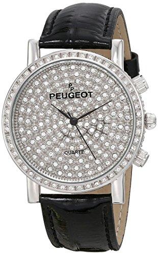 Peugeot Women's J6369SBK Analog Display Japanese Quartz Black Watch