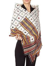 Laine Accessoires de mode indiens brodés Châles Wraps Cadeaux pour la soeur 84x36 pouces