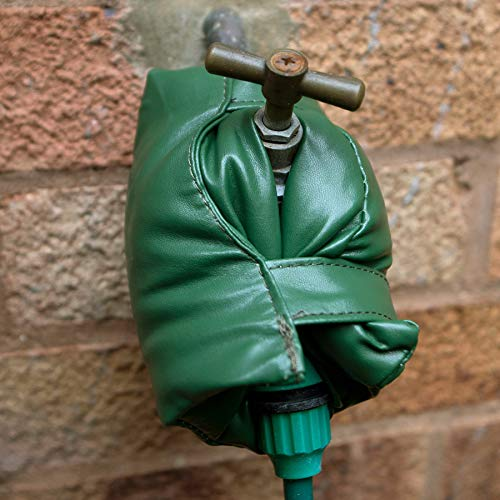 2 St Wasserhahn Abdeckung Außen-Wasserhahn grüne Socken für Winter Außenbereich Frostschutz Isolierung Thermoschutz Garten-Wasserhahn