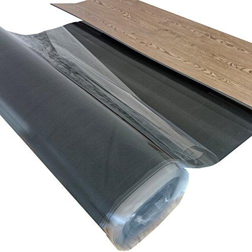 """10 m² - Vinyl Trittschalldämmung """"uficell VinosilentFixo"""" Stärke: 2 und 5 mm - Vinylunterlage mit Selbstklebeschicht für die sichere Verlegung von """"Click"""" Vinyl-/LVT-Designboden mit einer Stärke von 4-5 mm   Sie kaufen 1 Rolle in Stärke (5 mm)"""