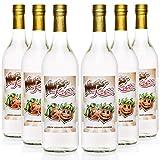 Nuss Kuss® 1,0 Liter, 6 Flaschen Haselnuss-Schnaps, Liebliche Spezialität von Kultbrand aus Nürnberg, Sensationelle Qualität, Direkt vom Hersteller, Die Königin unter den Prinzessinnen