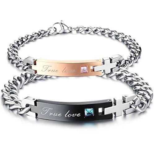 LOSORN ZPY 2 Edelstahl Armbänder Partner Armband Armkette Schmuck