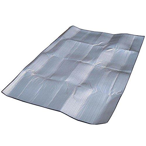 SODIAL(R) 200*150CM tapis de sol multifonctionnel Tente De Camping sommeil Abris/ matelas double face en aluminium avec mousse EVA pour deux personnes