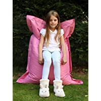 Large Big Kids Bean Bag Garden indoor/Outdoor Beanbag Childrens Waterproof Chair - Pink
