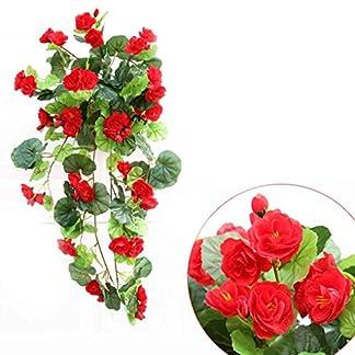 Artificial de Begonia flores colgantes planta de vid vid DIY Garland Inicio