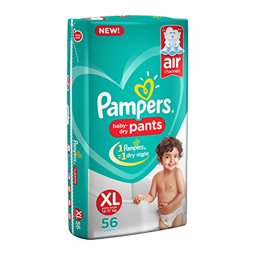 Pampers New Diapers Pants, X-Large (56 Count)