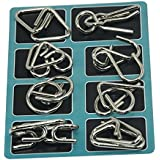 [Sponsored]Shopaholic Metal Wire Puzzles,Test Mind Game Toys Brain Teaser,Gift For Kids Set Of 8