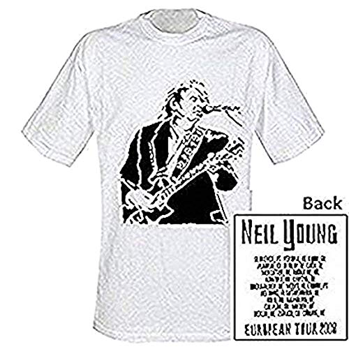 NEIL YOUNG - TOUR - T-SHIRT OFFICIEL HOMME - Blanc, Small