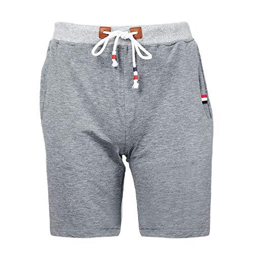 Eaylis-herren-shorts Fashion Einfarbige FüNf-Punkte-Shorts, Shorts Aus Baumwolle Und Leinen Mit Kordelzug, Jogginghose