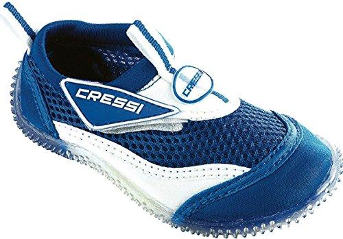 Cressi Coral Junior, Scarpette Mare Unisex Bambini Bianco/Blu