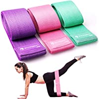 FITFORT Resistance Bands Set Men/Women, Exercise Bands for Legs & Butt, Non-Slip Workout Bands Booty Bands With 3 Resistance Levels, Fitness Loop Bands for Squats/Glute Bridge/Lunges/Pilates and Yoga