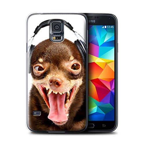 Stuff4 Hülle / Case für Apple iPhone X/10 / Hund mit Köpfhörer Muster / Lustige Tiere Kollektion Lächerlicher Hund