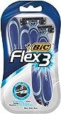 BIC Flex 3 Rasierer Set Männer, 3 Klingen, Für empfindliche Haut, 4 Stück