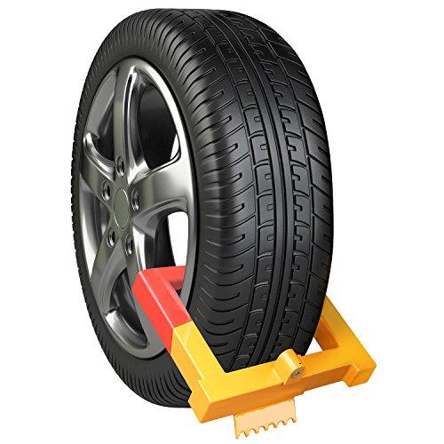 FIXKIT Radkralle Parkkralle Reifenkralle Wegfahrsperre Diebstahlsicherung Geeignet für PKW, Auto, Anhängersicherung (2 Schlüsseln)