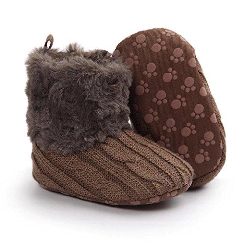 Saingace Krabbelschuhe boots 0 ~ 18 Monate Baby weiche Sohle Snow Boots Soft-Krippe Schuhe Kleinkind Stiefel Kaffee