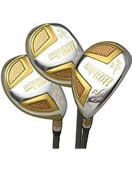 Japon Epron TRG hybrides Club de golf bois Set + Housse cuir (16,19,22degré Loft, Regular Flex, prise en main Standard, Lot de 3)