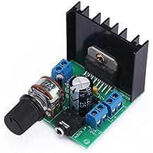 DROK® Mini TDA7297F Stereo Audio Amplificatore Elettronica fai da te Portatile Digitale AMP Modulo 15W +15W Dual-Channel 12V DC Classe D Amplifier Board for Auto Car Speaker