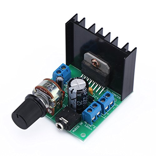 DROK® Mini TDA7297F Stereo Audio Amplificatore Elettronica fai da te Portatile Digitale AMP Modulo 15W +15W Dual-Channel 12V DC Classe D Amplifier Board for Auto Car Speaker etc