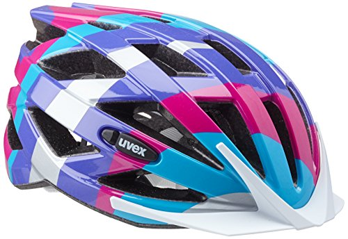 Uvex Fahrradhelm Air Wing, Blue-Pink, 52-57, 4144260415
