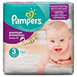 Pampers Active Fit Midi 3 31stück – Windel (Universal, Disposable Diaper, Multi, Petrolatum, stearyl Alkohol, Liquidum, Aloe Barbadensis, leaf Extract, Plastic Bag)