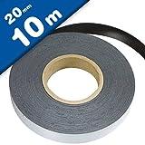 Ferroband Eisenband selbstklebend braun - 0,6mm x 20mm x 10m - mit Premium-Kleber, flexibles Haftband für Magnete