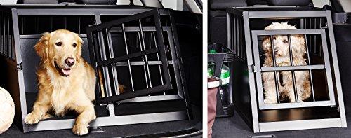 Impag universal Hundetransportbox Einzel-Box oder Doppel-Box aus Metall für den Kofferraum