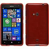 PhoneNatic Custodia per Nokia Lumia 625 Cover rosso brushed Nokia Lumia 625 in silicone + pellicola protettiva