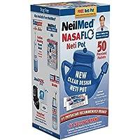 NeilMed NasaFlo Unbreakable Neti Pot with 50 Premixed Packets by NeilMed