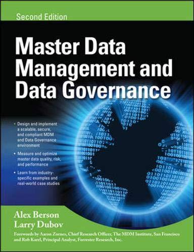 MASTER DATA MANAGEMENT AND DATA GOVERNANCE, 2/E