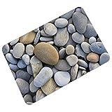 YOUJIA Fußmatte Kopfsteinpflaster Muster Sauberlaufmatte Fußabstreifer Türfußmatte Eingangsmatte Türmatte (Stein #2, 40*60cm)