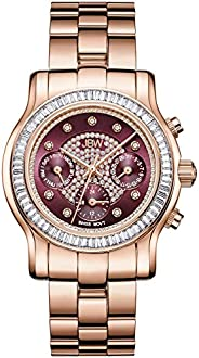 JBW Luxury Women's Laurel 9 Diamonds & Swarovski Crystal Baguette Bez