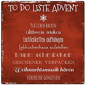 Xl Shabby Vintage Schild Dekoschild To Do Liste Advent