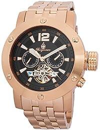 Burgmeister BM329-328 - Reloj para hombres, correa de acero inoxidable color oro rosa