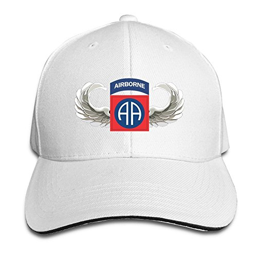 YSC-Dier 82nd Airborne Jump Wings Stylish Flat Bill Hats White