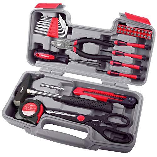 Set di attrezzi hi-spec da 39 pezzi per piccole riparazioni fai da te in casa & in ufficio. utensili manuali in una custodia compatta